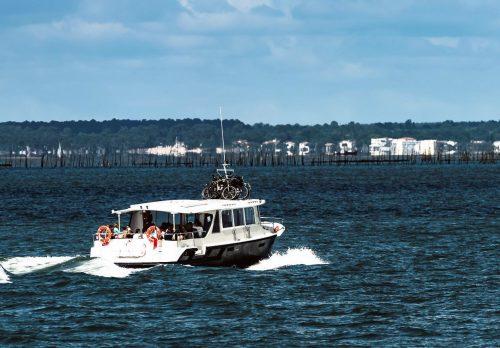 Départ d'Arcachon en bateau pour se rendre à Andernos-les-Bains