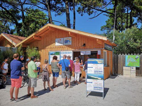 Point de vente jetée Bélisaire au Cap Ferret