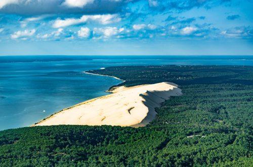 La Dune du Pilat vu du ciel