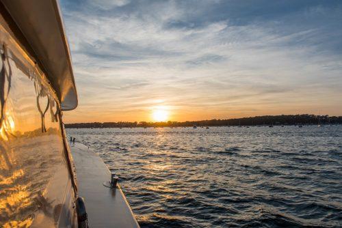 Le Greenbelt face au coucher du soleil