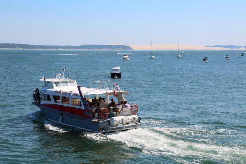 Départ de la jetée Bélisaire pour la liaison avec la jetée du Moulleau