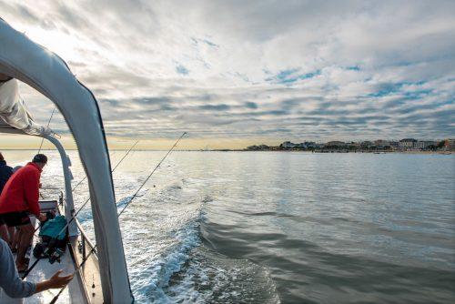 Départ du port d'Arcachon pour une sortie pêche