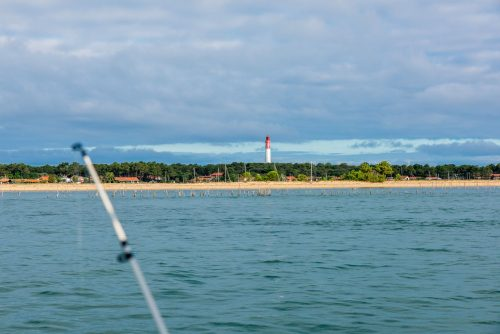 Pêche devant le phare du Cap Ferret
