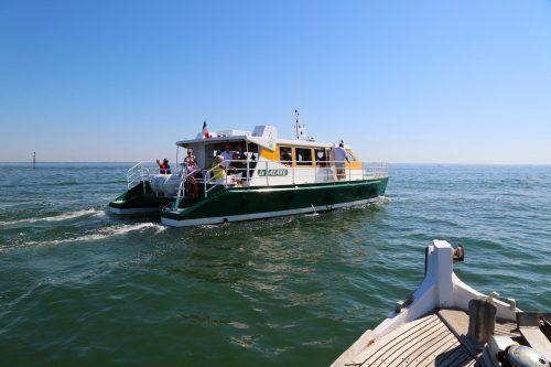 """""""Le Salako"""" Catamaran de la flotte de l'Union des Bateliers Arcachonnais"""