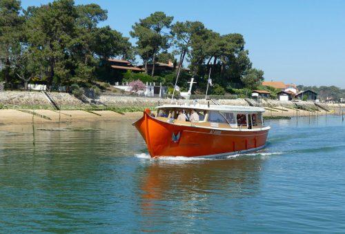 Greenboat naviguant au Cap Ferret