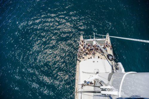 Photo en haut du mât sur le Cote d'Argent