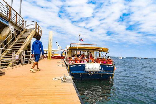 Les scolaires sont arrivés au Cap Ferret par la navette UBA