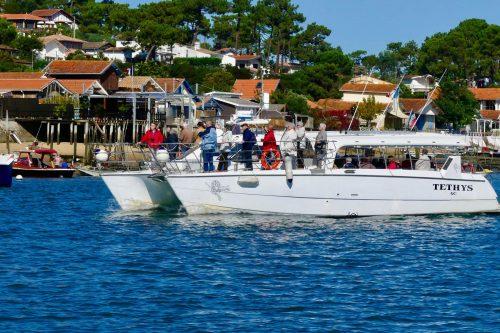 Le Catamaran Tethys devant le Cap Ferret